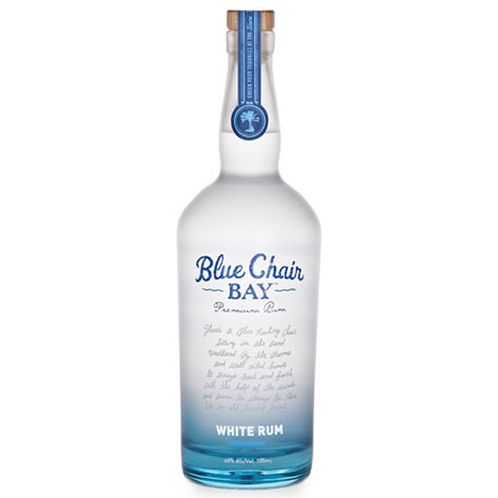 Best Silver Rum Brand Logo: Blue Chair Bay White